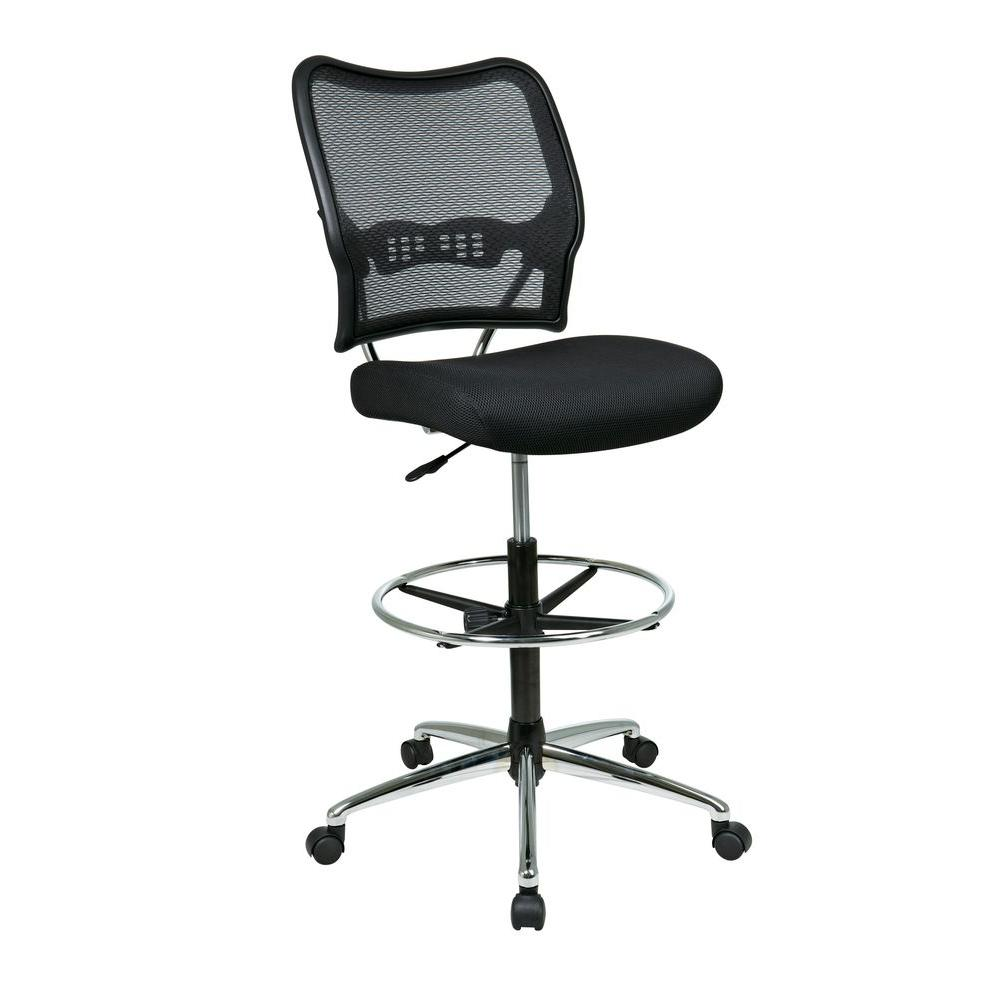 E Seating Deluxe Black Airgrid Back Drafting Chair