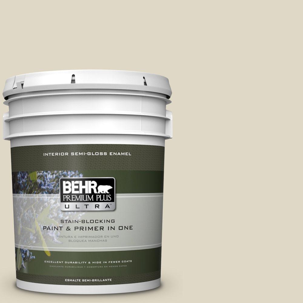 5 gal. #HDC-WR15-1 Zero Degrees Semi-Gloss Enamel Interior Paint