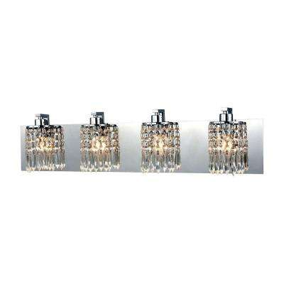 Optix 4-Light Polished Chrome LED Vanity Light