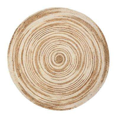 round - jute - area rugs - rugs - the home depot