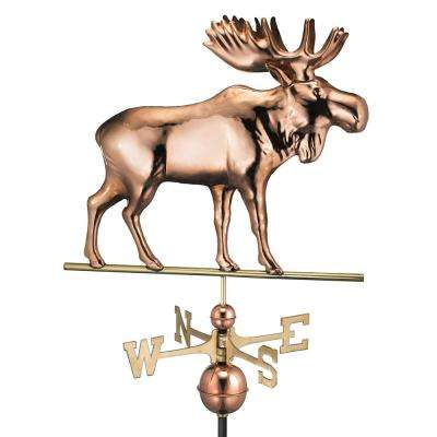 Moose Weathervane - Pure Copper