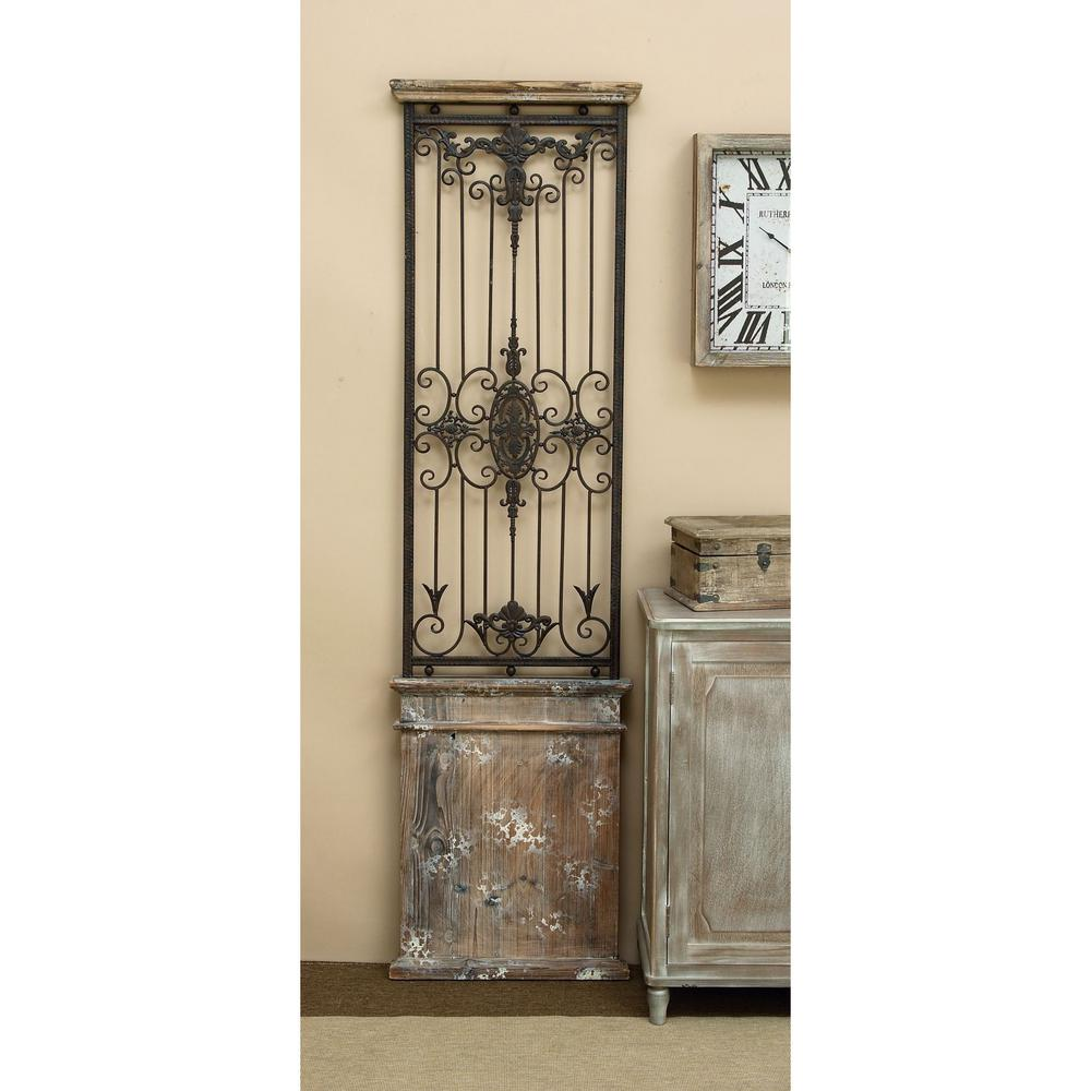Wrought Iron Wall Panels Rustic 71 Inwrought Iron Wall Panel80944  The Home Depot