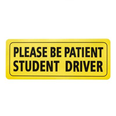3.5 in. x 9 in. Plastic Magnetic Student Driver Sign