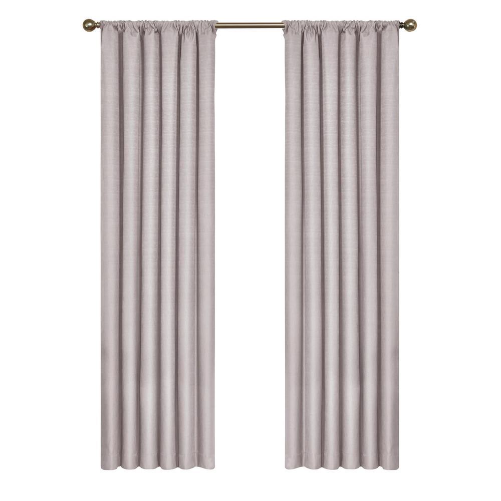 Kendall Blackout Window Curtain Panel in Grey - 42 in. W x 84 in. L