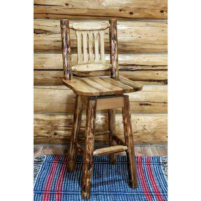 Glacier Country 30 in. Medium Brown Puritan Pine Swivel Bar Stool