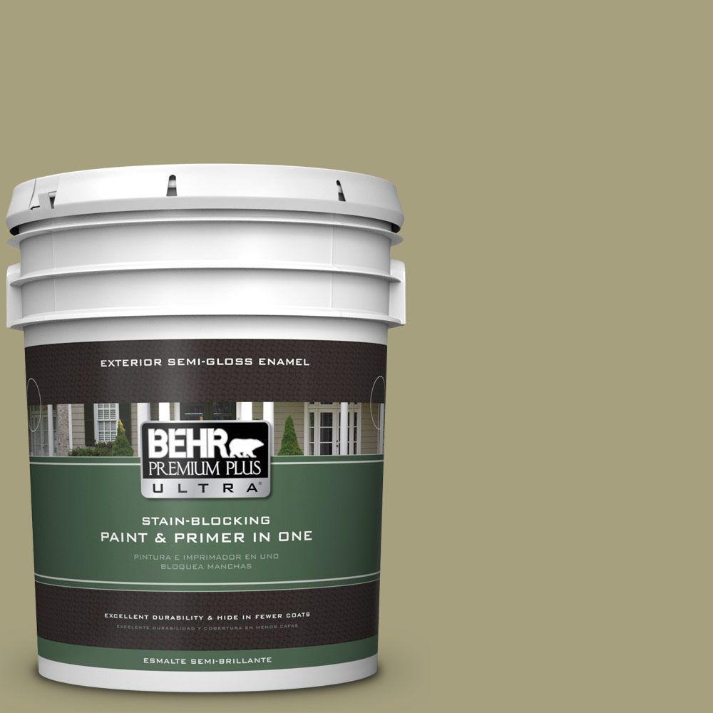 BEHR Premium Plus Ultra 5-gal. #S350-4 Sustainable Semi-Gloss Enamel Exterior Paint
