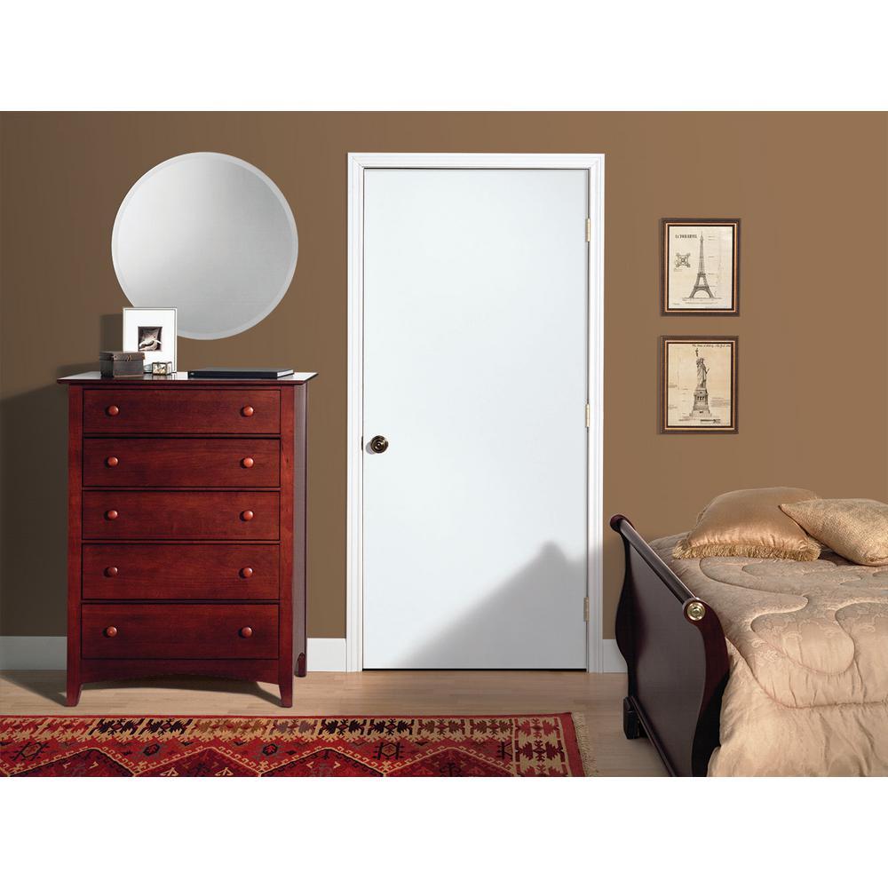 Jeld Wen 32 In X 80 In Primed Flush Solid Core Hardboard Interior Door Slab Thdjw160700219 The Home Depot