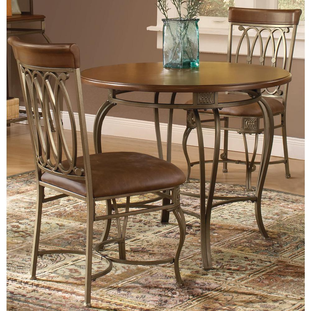 Hilale Furniture Montello 3 Piece Old Steel Dining Set