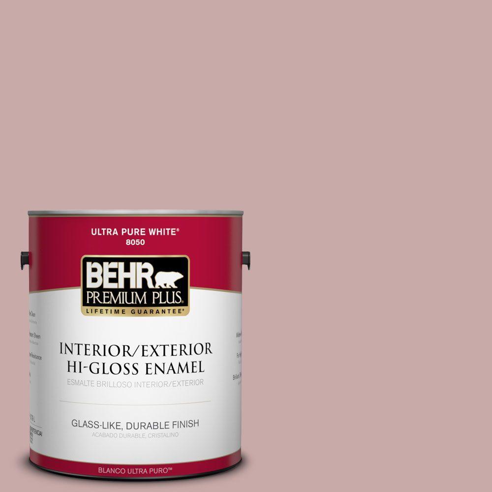 1-gal. #130E-3 Rosy Tan Hi-Gloss Enamel Interior/Exterior Paint