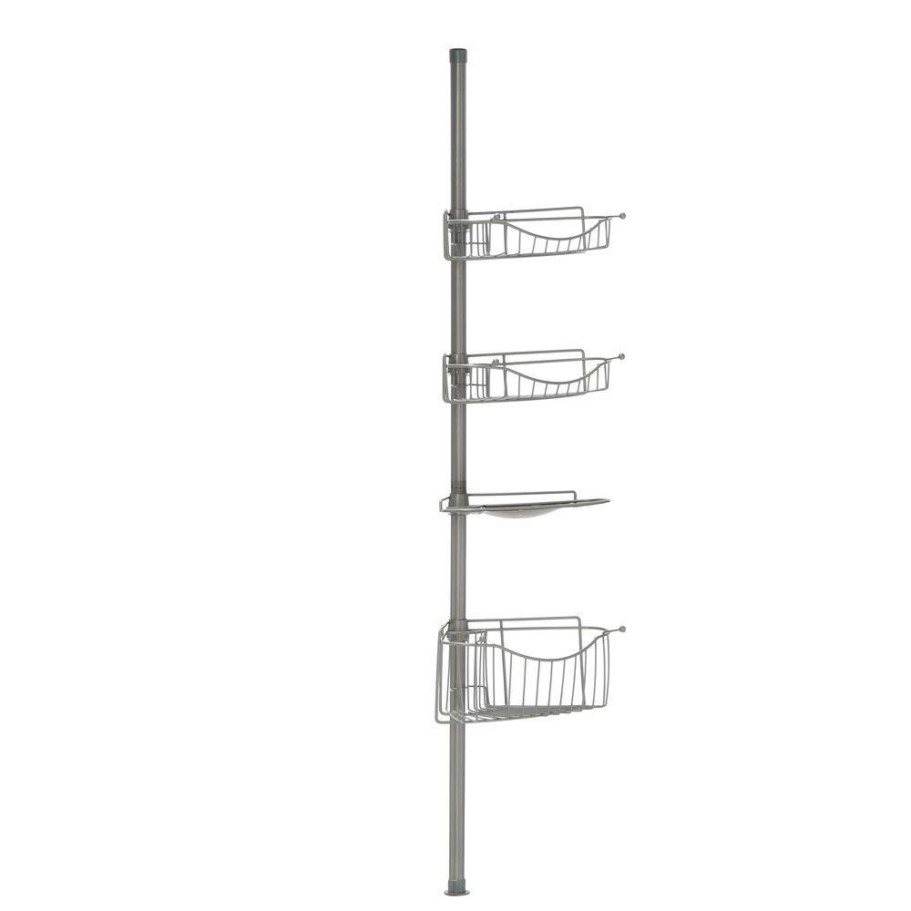 Satin Chrome Home Shower Tension Pole