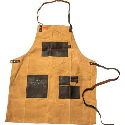 Apron - Brown Canvas & Leather