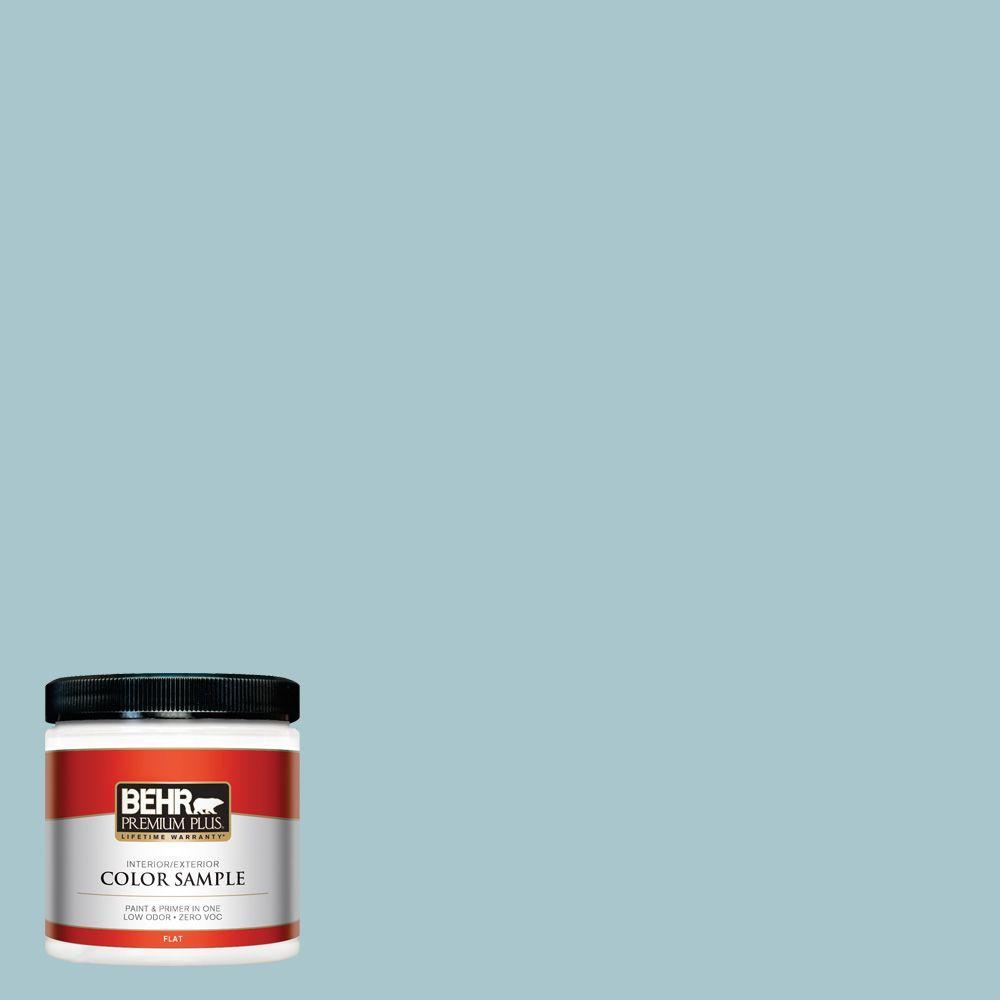 BEHR Premium Plus 8 oz. #S450-3 Spring Storm Interior/Exterior Paint Sample