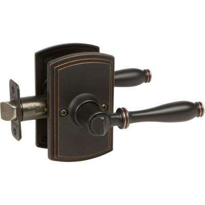 Italian Collection Sorado Edged Oil-Rubbed Bronze Bed/Bath Door Lever