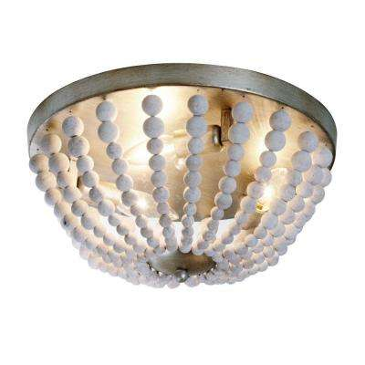 Laura 3-Light White Washed Chandelier