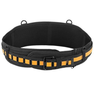Padded Belt with Steel Buckle and Back Support, Black