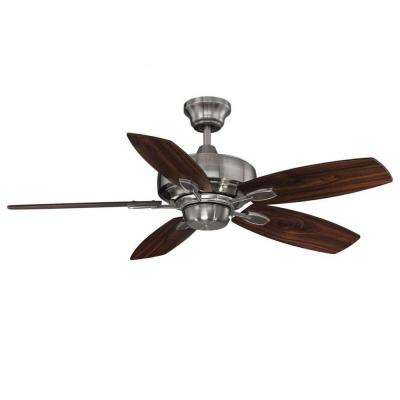 Riedern 42 in. Brushed Pewter Indoor Ceiling Fan