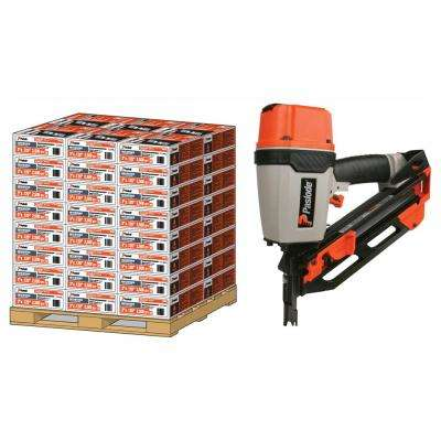 2 in. x 113 in. 30-Degree Heavy-Duty Galvanized Ring Shank Paper-Taped Framing Nails with Compact Framing Nailer