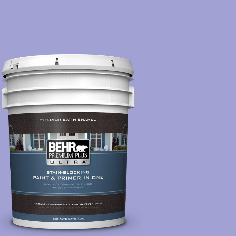 BEHR Premium Plus Ultra 5-gal. #P550-4 Water Hyacinth Satin Enamel Exterior Paint