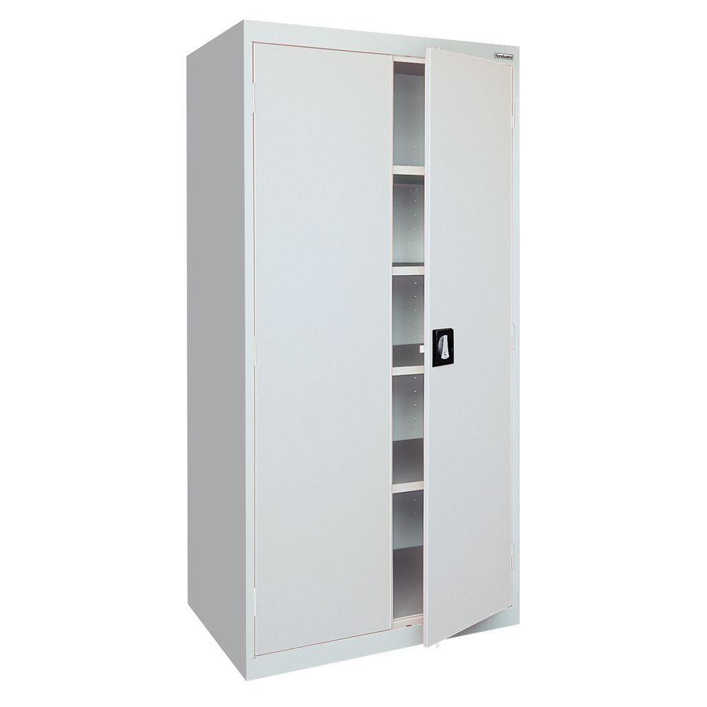 Elite Series 78 in. H x 36 in. W x 18 in. D 5-Shelf Steel Freestanding Storage Cabinet in Dove Gray