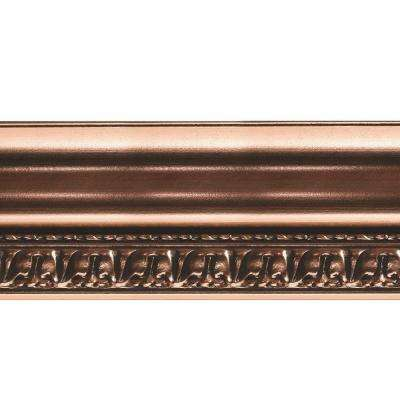 Grand Baroque 1 in. x 6 in. x 96 in. Wood Ceiling Crown Molding in Polished Copper