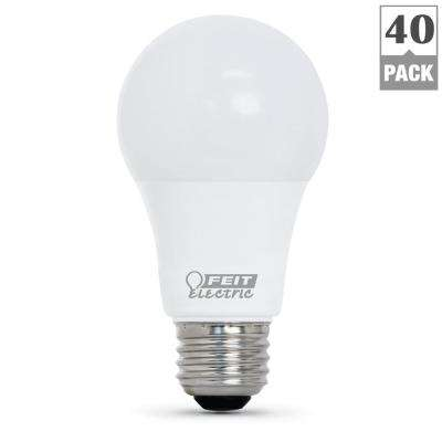 60W Equivalent Daylight (5000K) A19 LED Light Bulb (40-Pack)