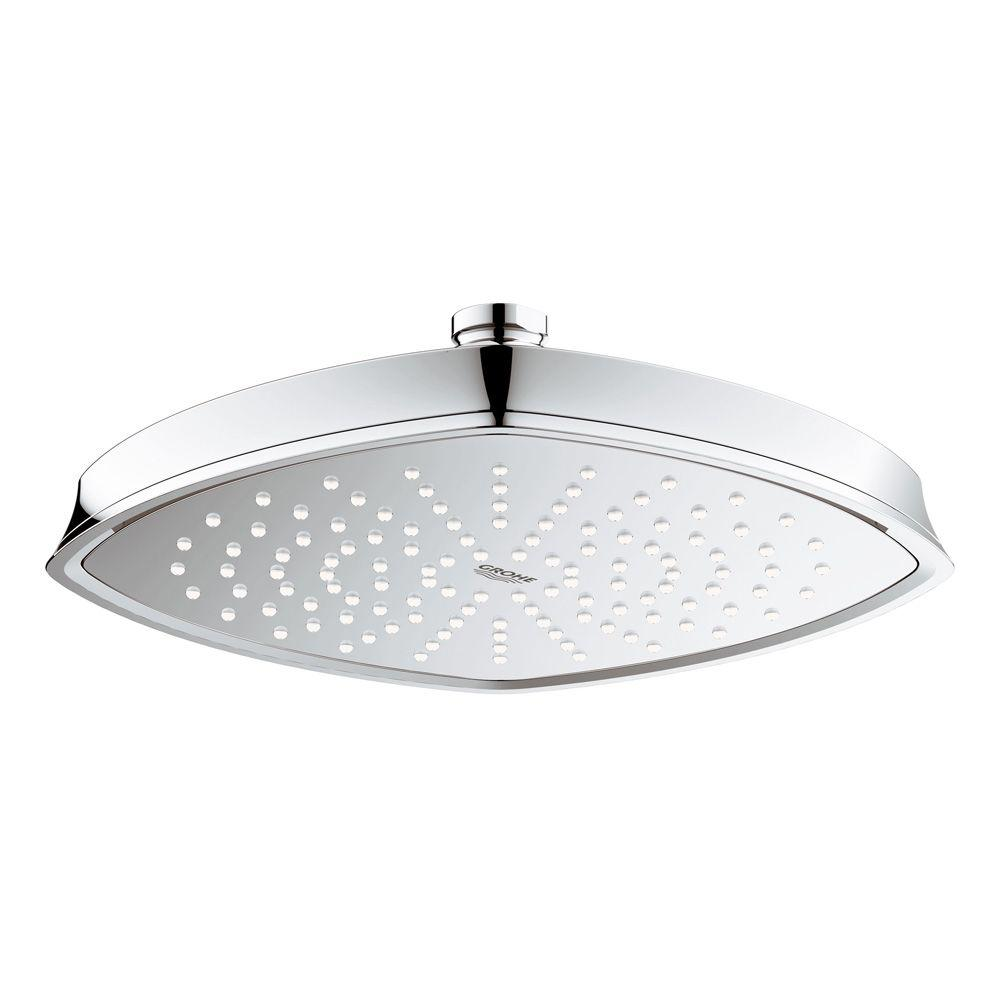 GROHE Grandera Rainshower 1 Spray 8.6875 In. Raincan Ceiling Showerhead In  StarLight Chrome 27976000   The Home Depot