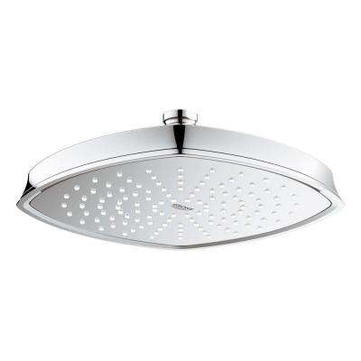 Grandera Rainshower 1-Spray 8.6875 in. Raincan Ceiling Showerhead in StarLight Chrome