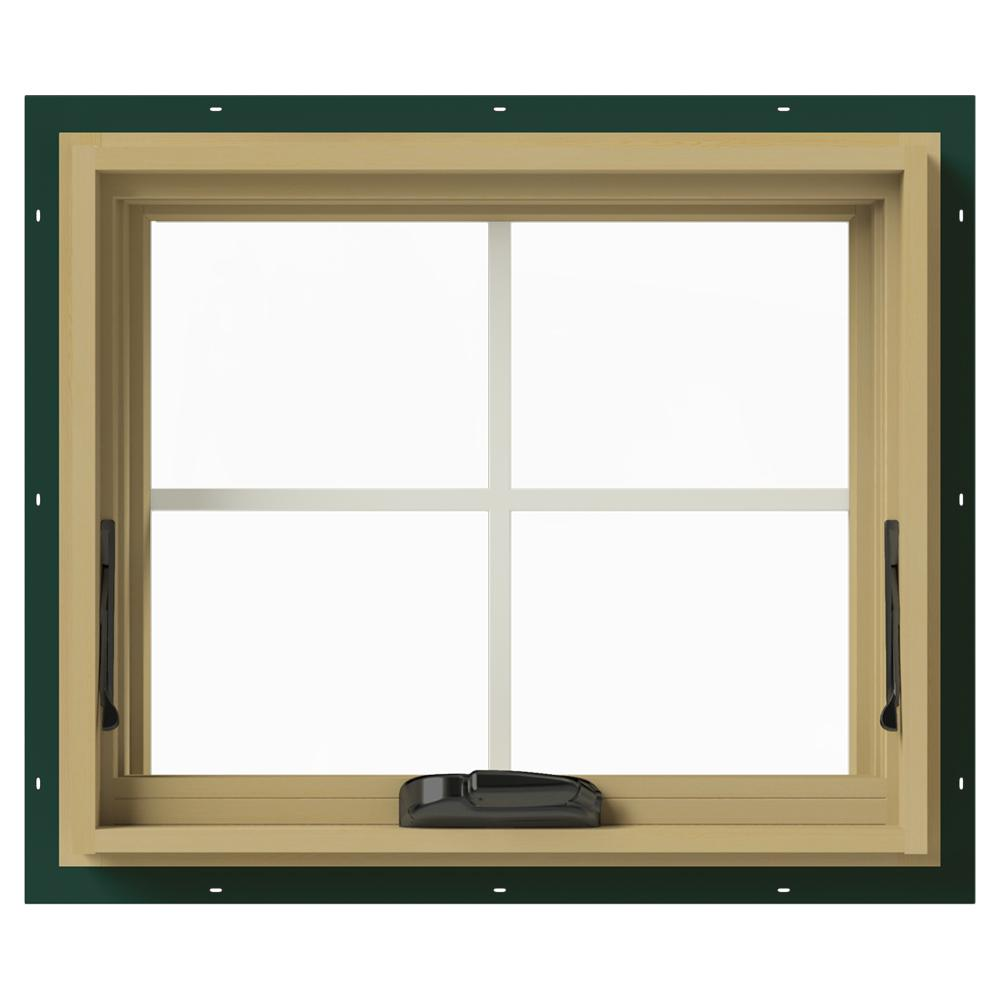 JELD-WEN 24 in. x 20 in. W-2500 Awning Aluminum Clad Wood Window