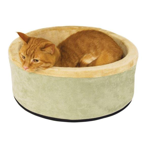 Thermo-Kitty Small Sage Heated Cat Bed