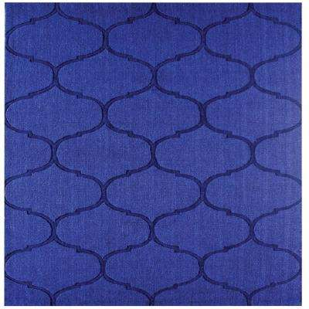 Dash Blue 6 in. x 6 in. Square Indoor Area Rug