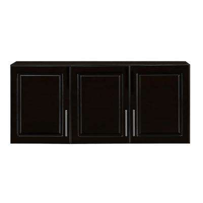 Select 12 in. D x 54 in. W x 24 in. H 3-Door MDF Wall Cabinet Wood Closet System in Espresso