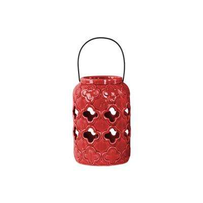 Red Candle Ceramic Decorative Lantern