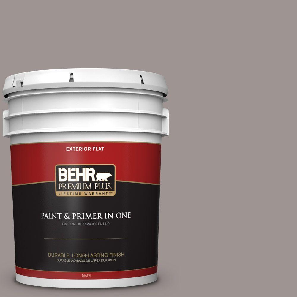 BEHR Premium Plus 5-gal. #790B-4 Puddle Flat Exterior Paint