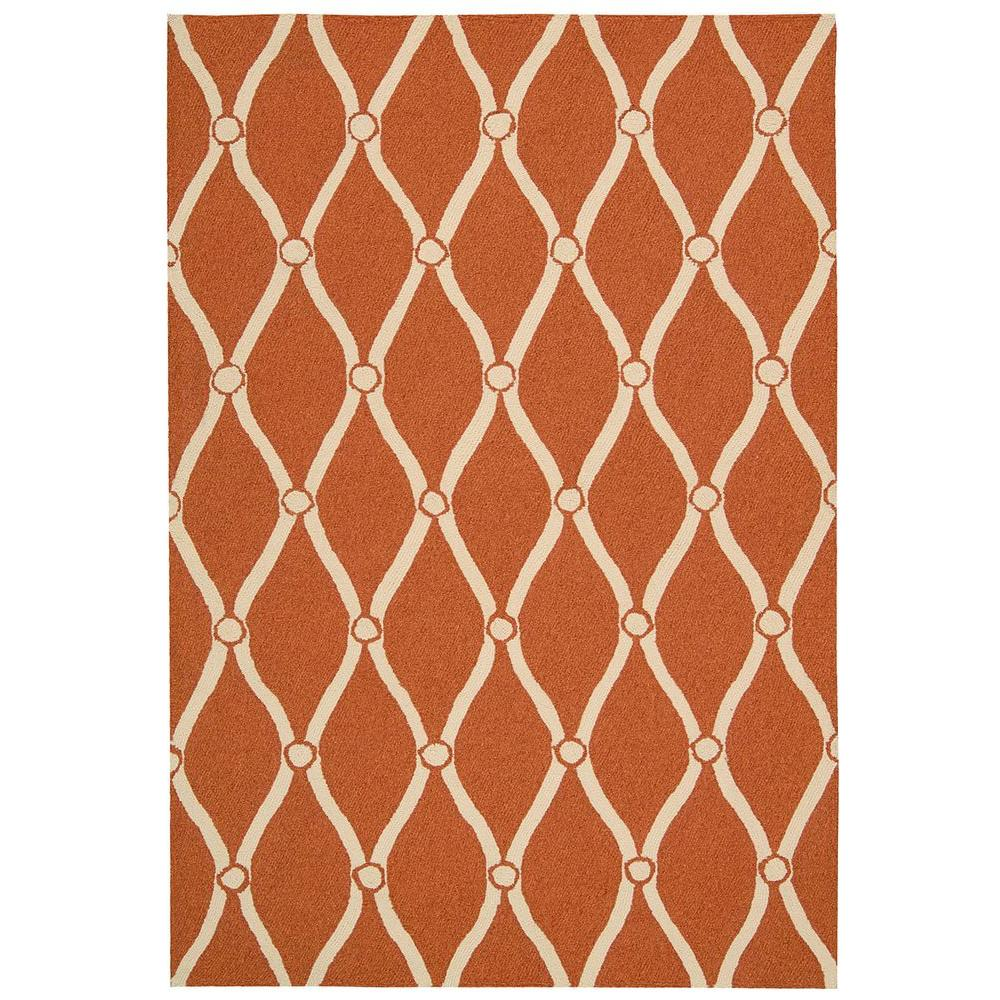 Nourison Portico Orange 2 ft. 3 in. x 3 ft. 9 in. Indoor/Outdoor Accent Rug
