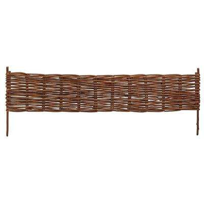 X-Large 72 in. L x 2 in. W Woven Willow Brown Flexible Edging