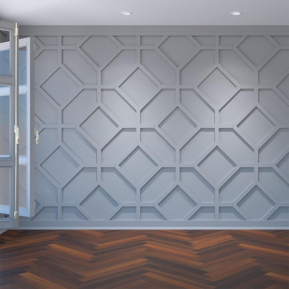"3/8"" x 39"" x 23-3/8"" Cameron Decorative Fretwork Wall Panels in Architectural Grade PVC"