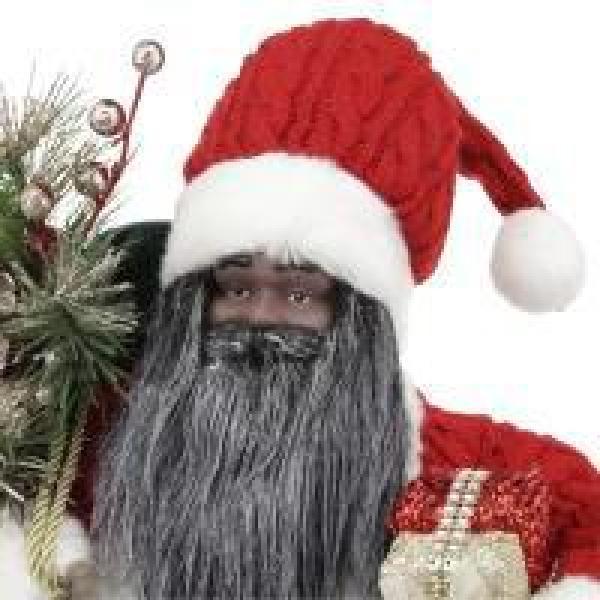 16 in. Standing Ethnic Santa