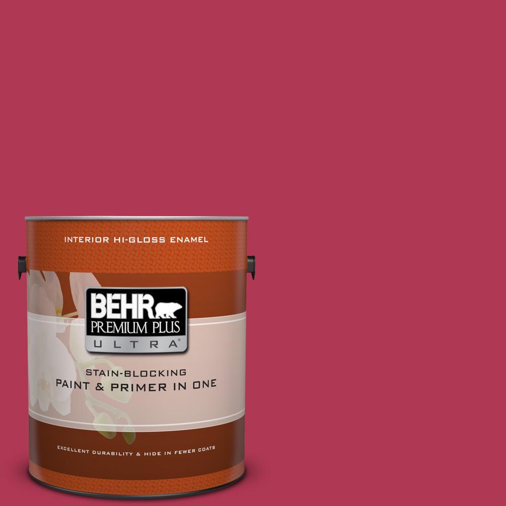 1 gal. #130B-7 Cherry Wine Hi-Gloss Enamel Interior Paint