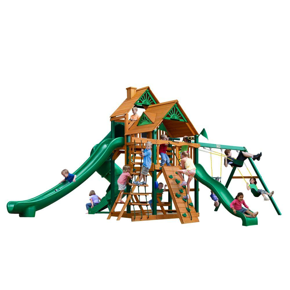 Gorilla Playsets Great Skye II with Timber Shield Cedar Playset