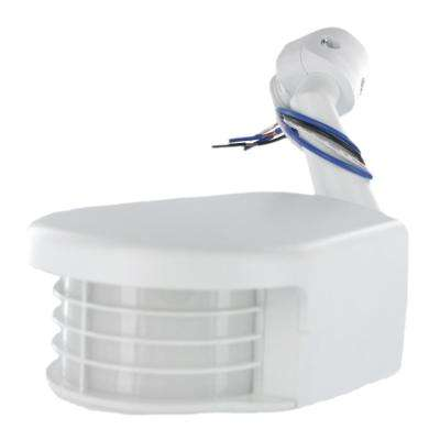 120-Volt Commercial Grade Passive Infrared 2500 sq. ft. 110-Degree Outdoor Motion Sensor, White