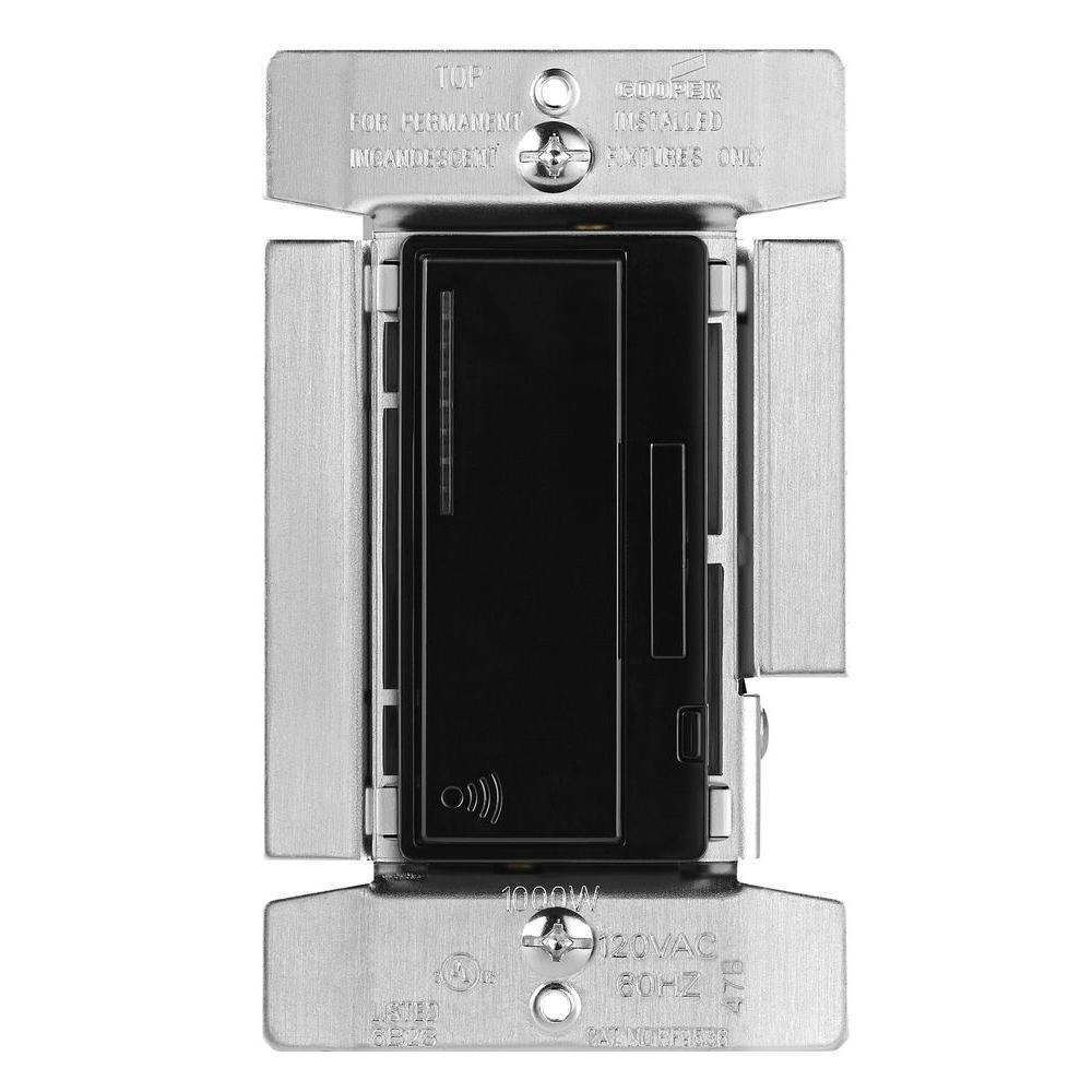 Aspire 1000-Watt Incandescent Smart Dimmer System Masters, Decorator Black