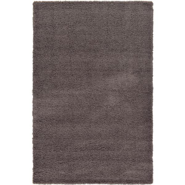 Solid Shag Graphite Gray 6 ft. x 9 ft. Area Rug