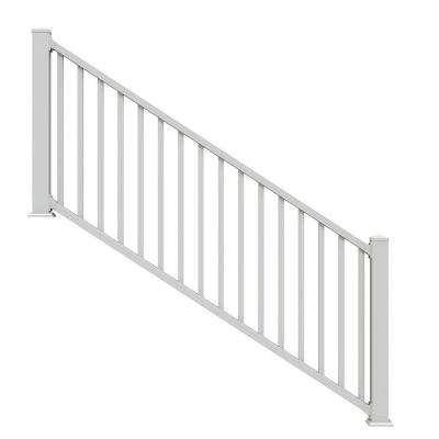 Select White 3 ft. Vinyl Stair Kit with Square Balusters