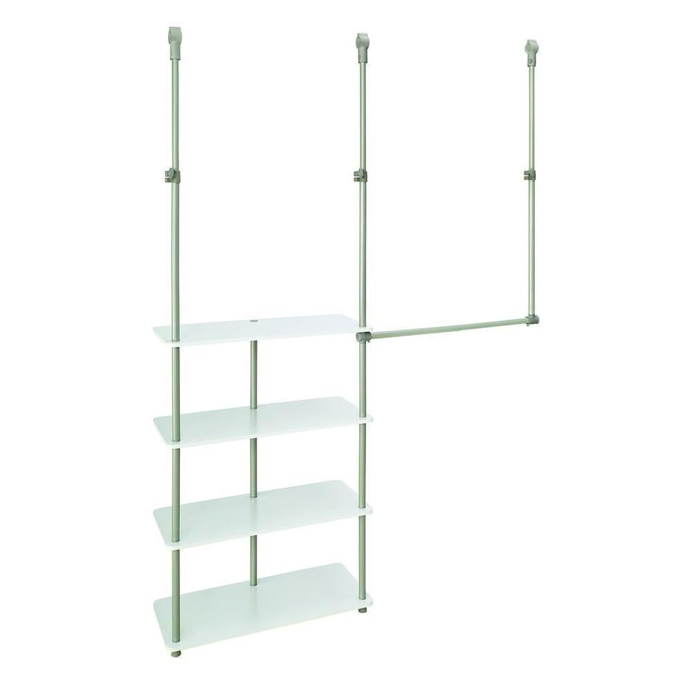 4 ft. - 8 ft. Laminate Closet Maximizer in White