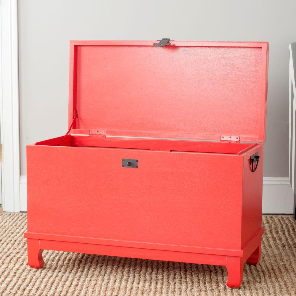 Safavieh Wesley Hot Red Trunk