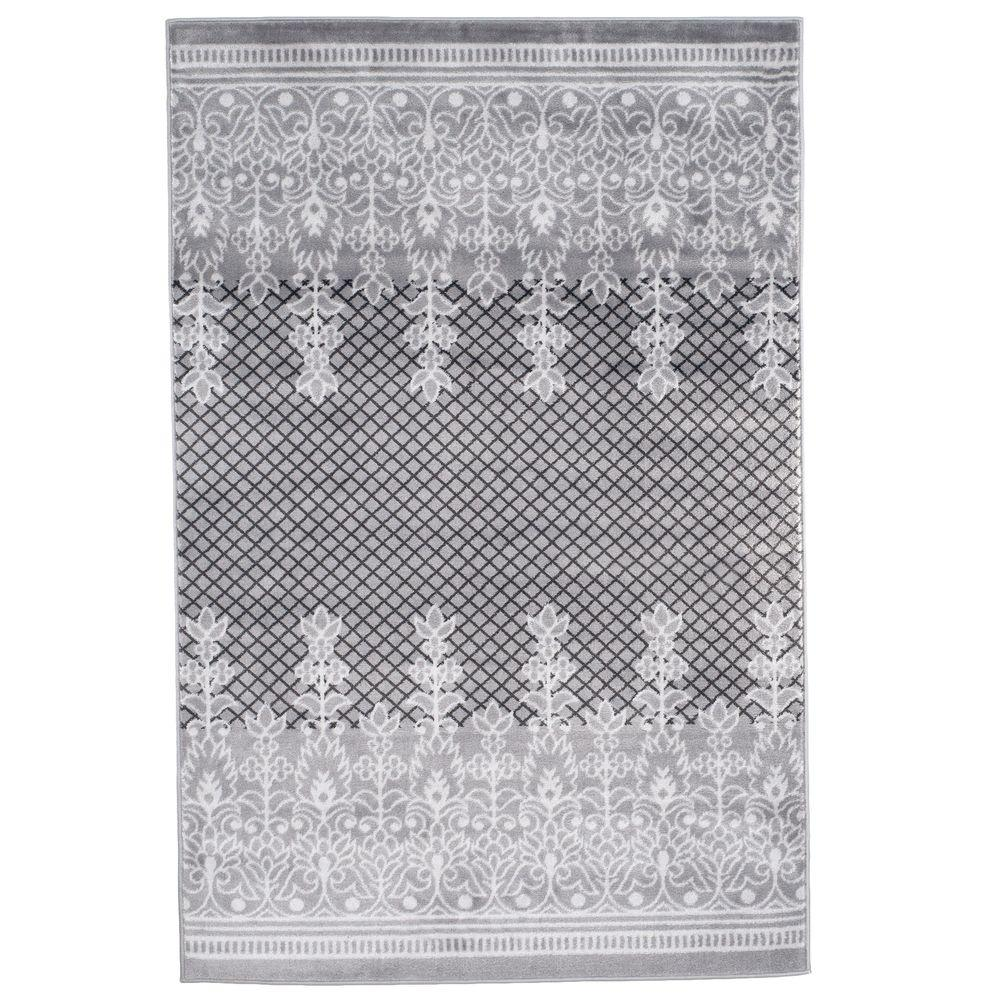 Royal Garden Grey 8 Ft X 10 Area Rug
