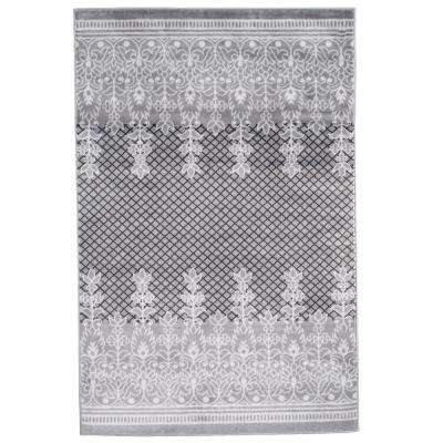 Royal Garden Grey 8 ft. x 10 ft. Area Rug