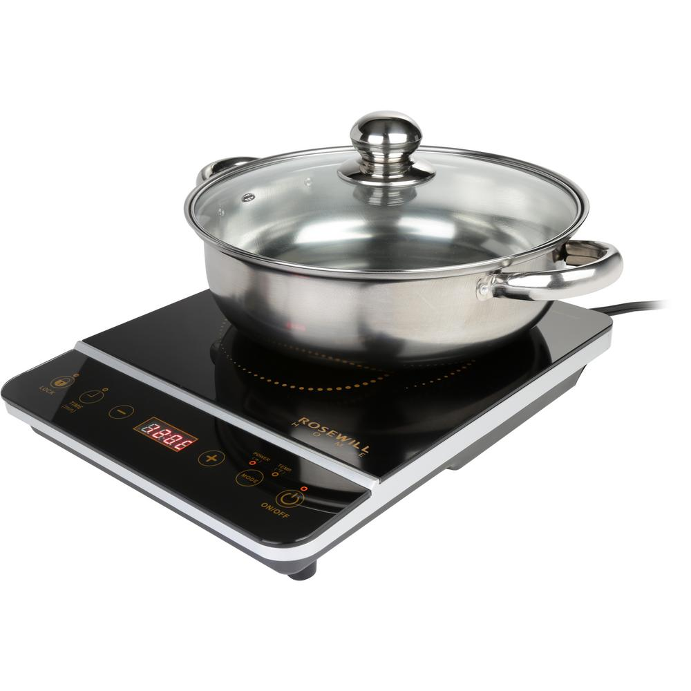 Rosewill 1800-Watt 8 Temperature Setting Gold/Black Induction Cooker