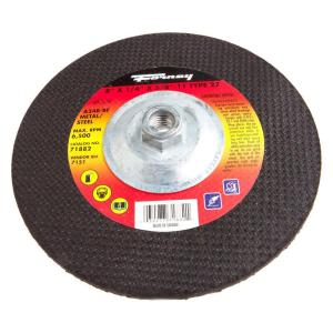 Forney 8 inch x 1/4 inch x 5/8 in.-11 Threaded Metal Type 27 A24R Grinding Wheel by Forney