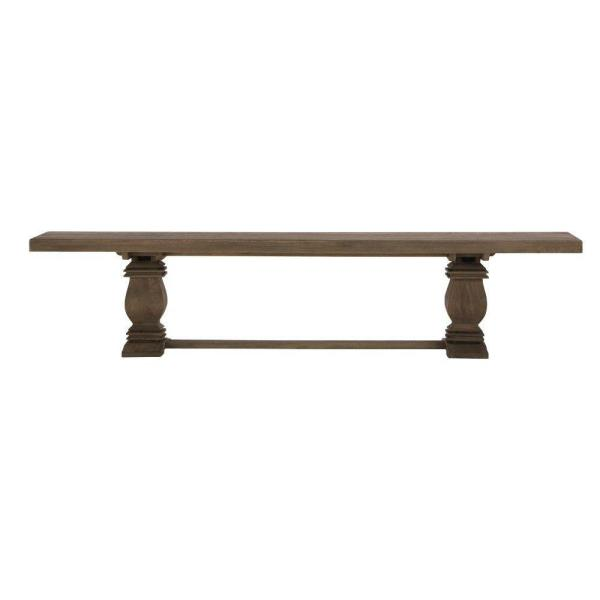 Aldridge Washed Wood Dining Bench